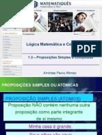 Lógica Unidade 1 - Proposições Simples e Compostas
