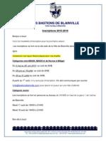 Modalités d'Inscriptions Bastion 2015-2016
