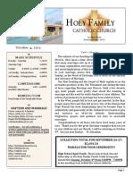 church bulletin for 10-4-2015