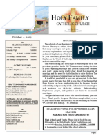 church bulletin for 10-4-2015