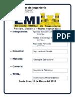Estructuras Mineralizadas Metálicas