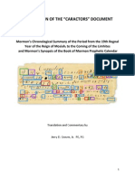 Translation of Book of Mormon Caractors Document