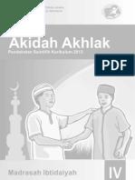 Buku Akidah Akhlak MI 4 Siswa