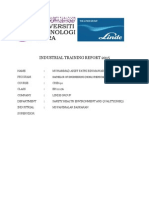 Industrial Training Report 2015