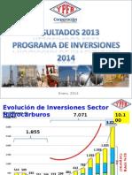 Ypfb Programa de Inversion 2014