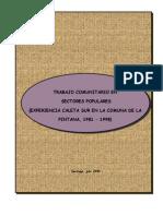Trabajo Comunitario en Sectores Populares Caleta Sur
