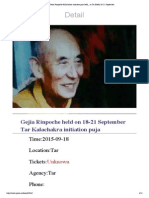 When Gejia Rinpoche Kalachakra