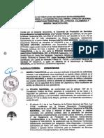 Convenio de Prestación de Servicios Entre La Policía Nacional Del Perú y Minera Yanacocha S R L