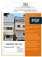TRS IIT CLASSES 'PAMPLATE'