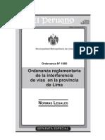 Ordenanaza 1680-Mml Interferencia de Vias - El Peruano.desbloqueado