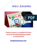 Phonics Lessons - A Complete 61 Lessons Course for Teaching Beginning Readers to Read and Spell