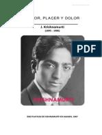 Kishnamurti, Temor, placer y dolor++