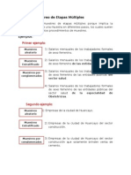MUESTREO DE ETAPAS MÚLTIPLES