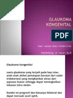 Glaukoma-Kongenital