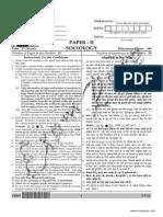 CBSE NET Sociology Paper 2 2015