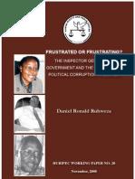 Daniel R Ruhweza the IGG & Political Corruption in Uganda Working_Paper_20_3