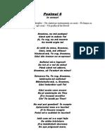 Psalmul 6 În Versuri