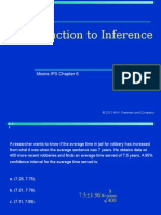 Inference and Confidence Intervals