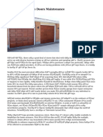Facts About Garage Doors Maintenance