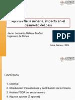 1) Aportes Del Minería, Impacto en El Desarrollo Del País (Javier Salazar - Southern Perú)