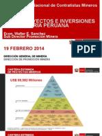 6) Proyectos e Inversiones en La Mineria Peruana (Walter Sanchez - Mem)