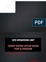 Permit System Within Port and FreeZone Areas