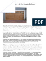 Garage Doors Restore - All You Require To Know