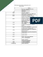 Cronograma de Quimica Organica 2015 Cuatrimestre Parte i