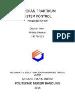 Laporan Praktikum Sistem Kontrol