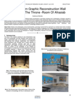About Modern Graphic Reconstruction Wall Painting of the Throne Room of Afrasiab
