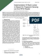 Design and Implementation of Bank Locker Security System Based on Fingerprint Sensing Circuit and Rfid Reader