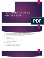 Tratamiento de La Hipotension