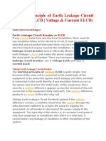 Working Principle of Earth Leakage Circuit Breaker ELCB