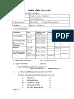 Punjab Uni Ssr Report