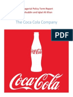 The Coca Cola Company Analysis