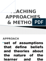 Teaching Approaches & Methods