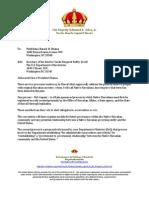 151002 King's Letter to President Obama
