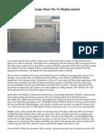 Critical Data On Garage Door Fix Vs Replacement