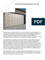 Top Garage Door Protection Recommendations That You Must Know