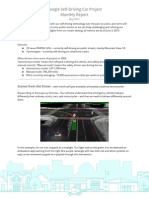 Google Self-Driving Car Project Monthly Report