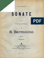 Barmotin - Violin Sonata, Op.14 Color Cover