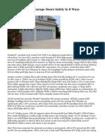Maintaining Your Garage Doors Safely In 8 Ways