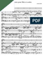 Talle - Fantaisie Pour Flute Et Cordes - Score