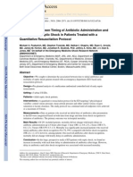 Association Between Timing of Antibiotic Administration and Mortality From Septic Shock in Patients Tretaed With a Quantitative Resuscitation Protocol