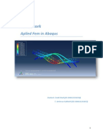 Static Analysis of 3D Bridge with Abaqus
