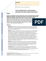 Reducing Blood Culture Contamination in the Emergency Department - An Interrupted Time Series Quality Improvement Study