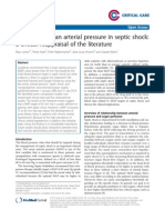 Optimizing Mean Arterial Pressure in Septic Shock - A Critical Reappraisal of the Literature