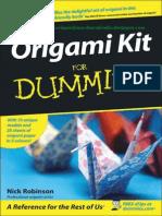 [Nick Robinson] Origami Kit Dummies