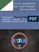 Quiz for Leadership