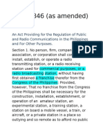 ACT 3846- Radio Control Law
